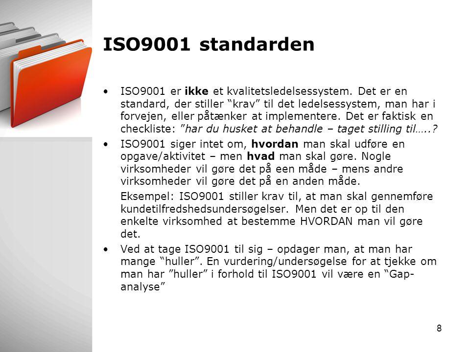 ISO9001 standarden