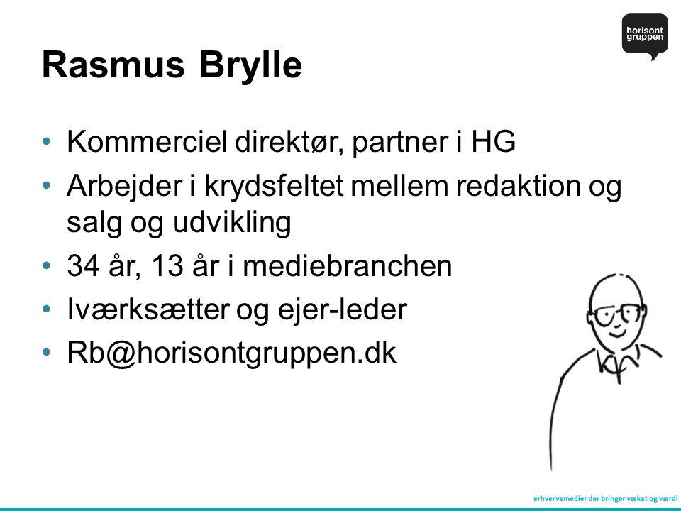 Rasmus Brylle Kommerciel direktør, partner i HG