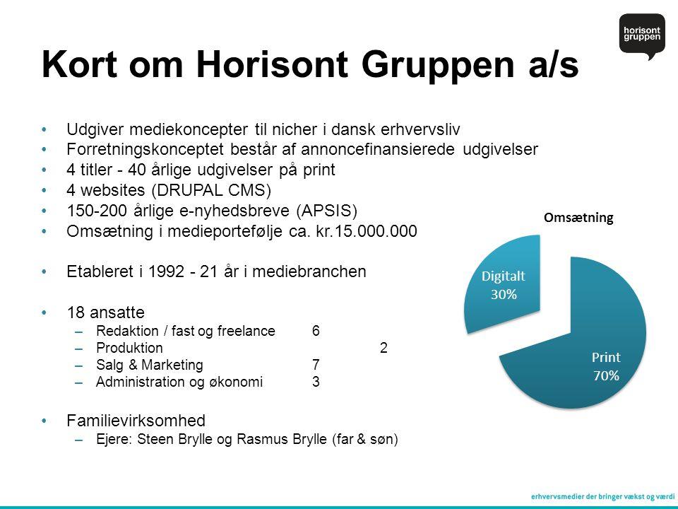 Kort om Horisont Gruppen a/s