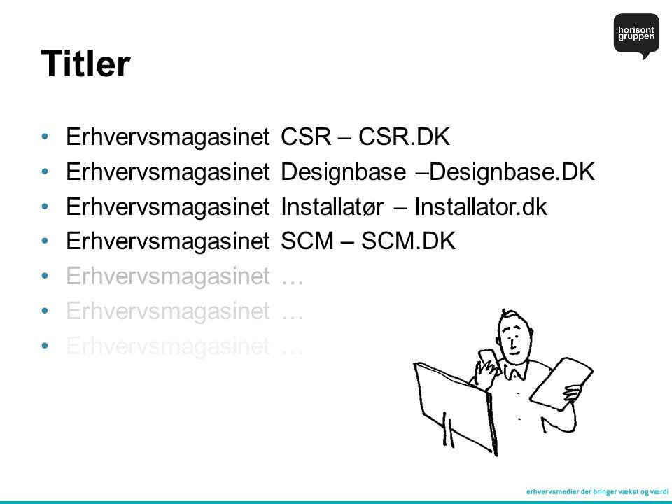 Titler Erhvervsmagasinet CSR – CSR.DK