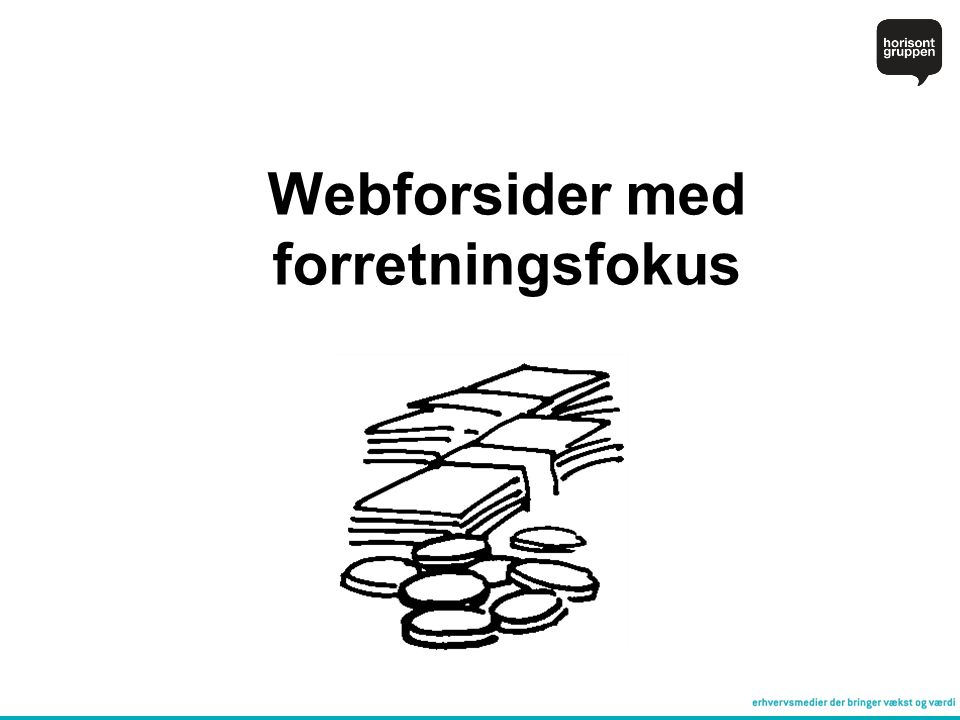 Webforsider med forretningsfokus