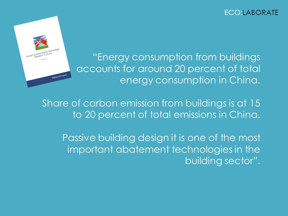 ECO:LABORATE Energy consumption from buildings accounts for around 20 percent of total energy consumption in China.