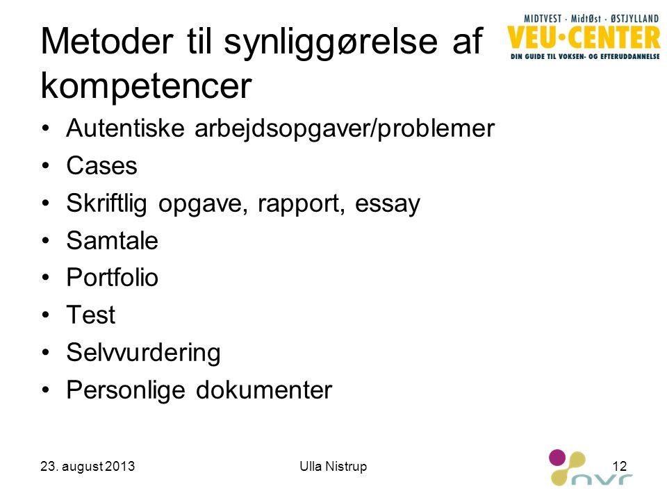 Metoder til synliggørelse af kompetencer