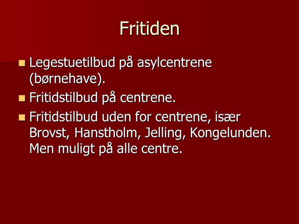 Fritiden Legestuetilbud på asylcentrene (børnehave).