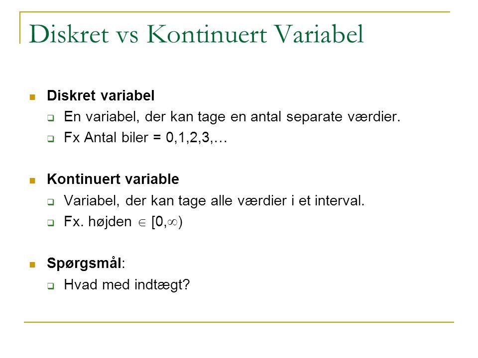Diskret vs Kontinuert Variabel