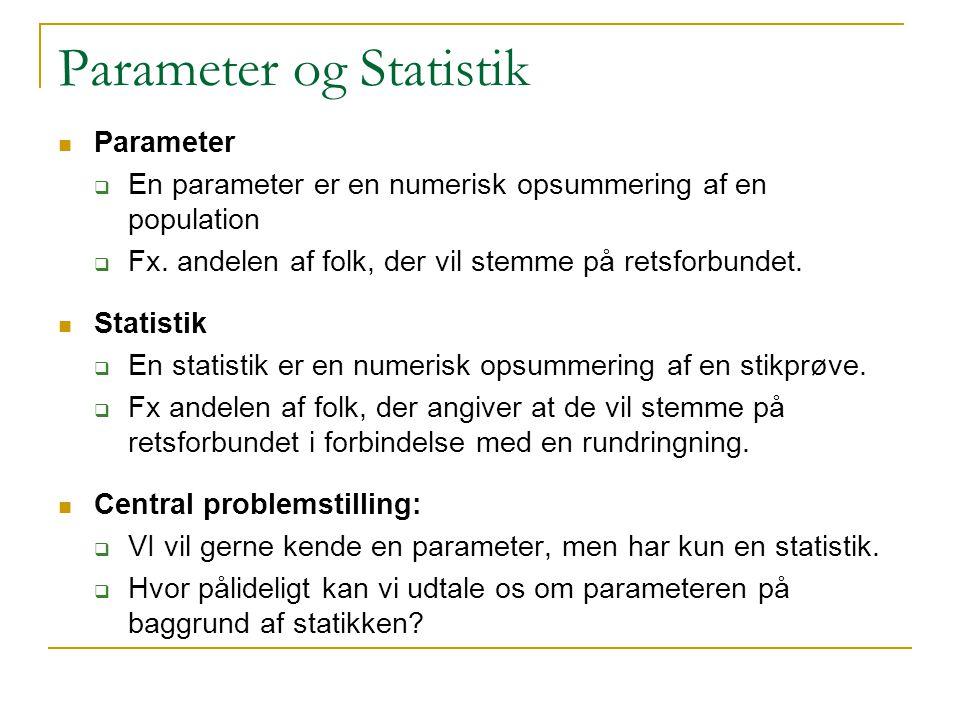 Parameter og Statistik