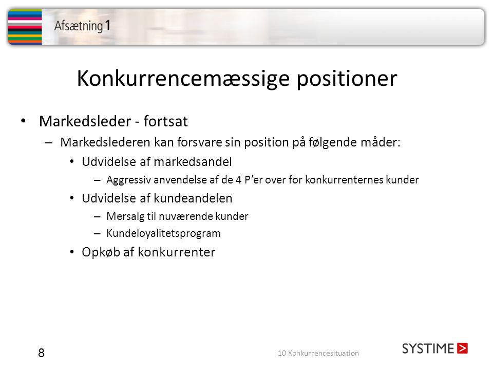 Konkurrencemæssige positioner
