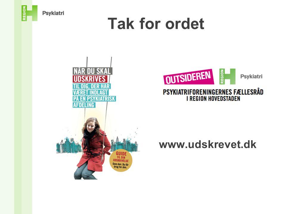 Tak for ordet www.udskrevet.dk