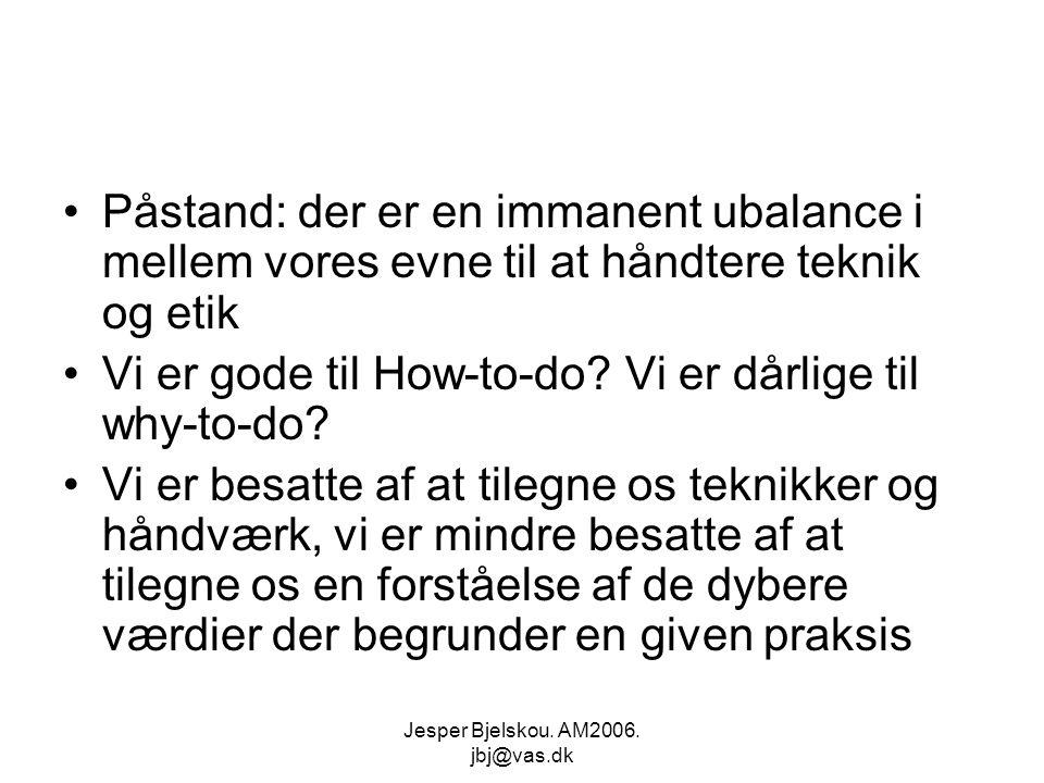 Jesper Bjelskou. AM2006. jbj@vas.dk