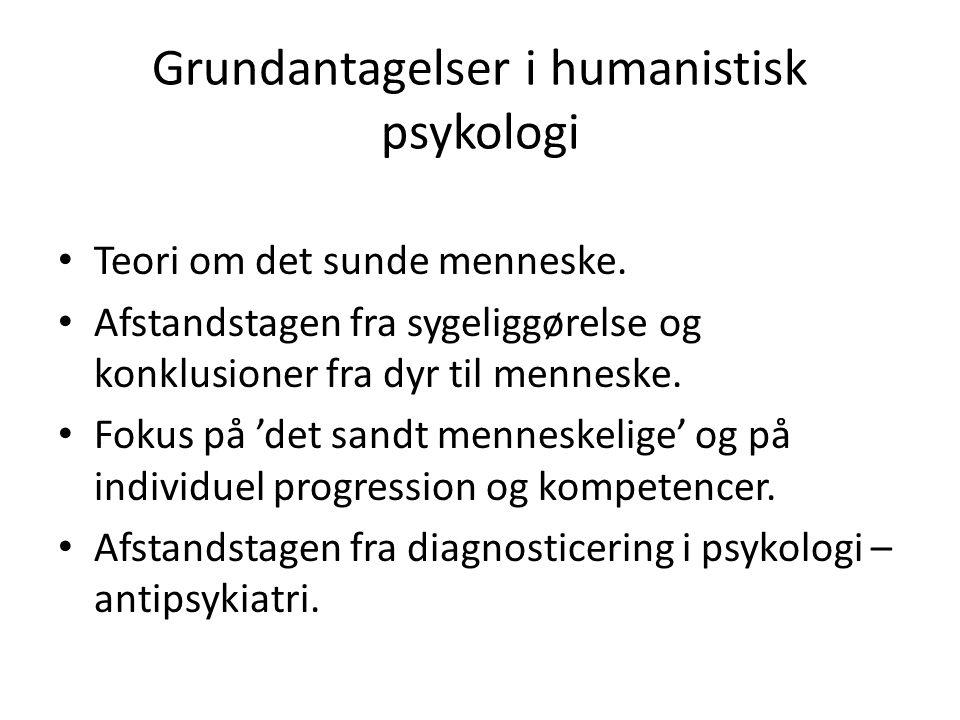 Grundantagelser i humanistisk psykologi