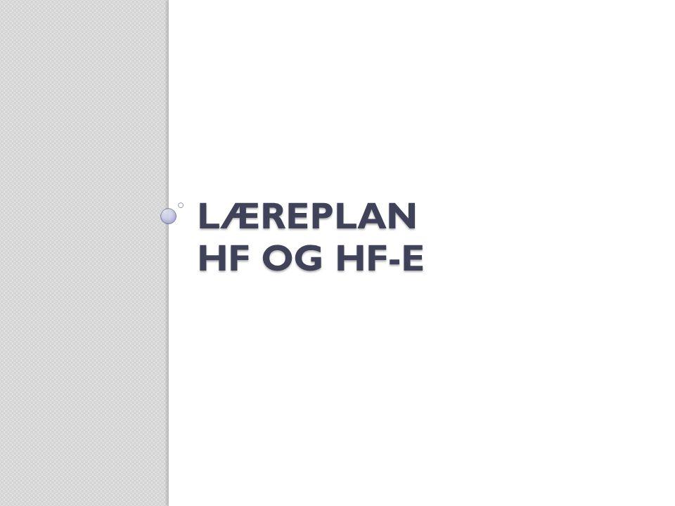 Læreplan hf og hf-e