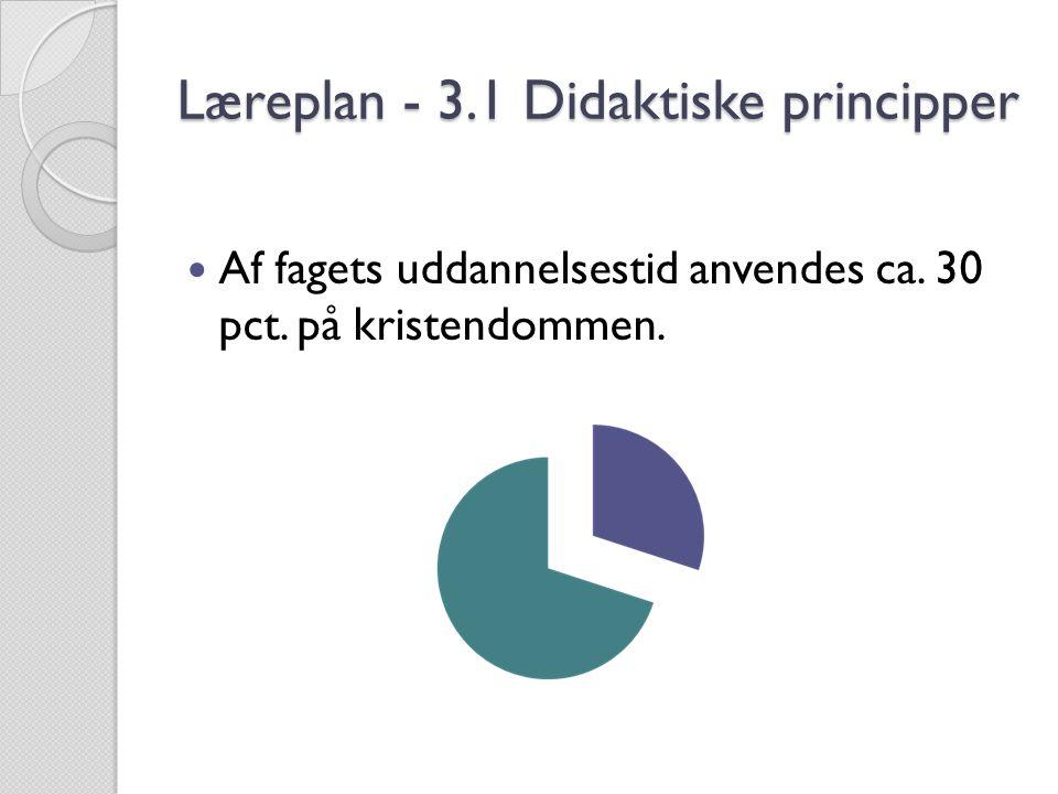 Læreplan - 3.1 Didaktiske principper