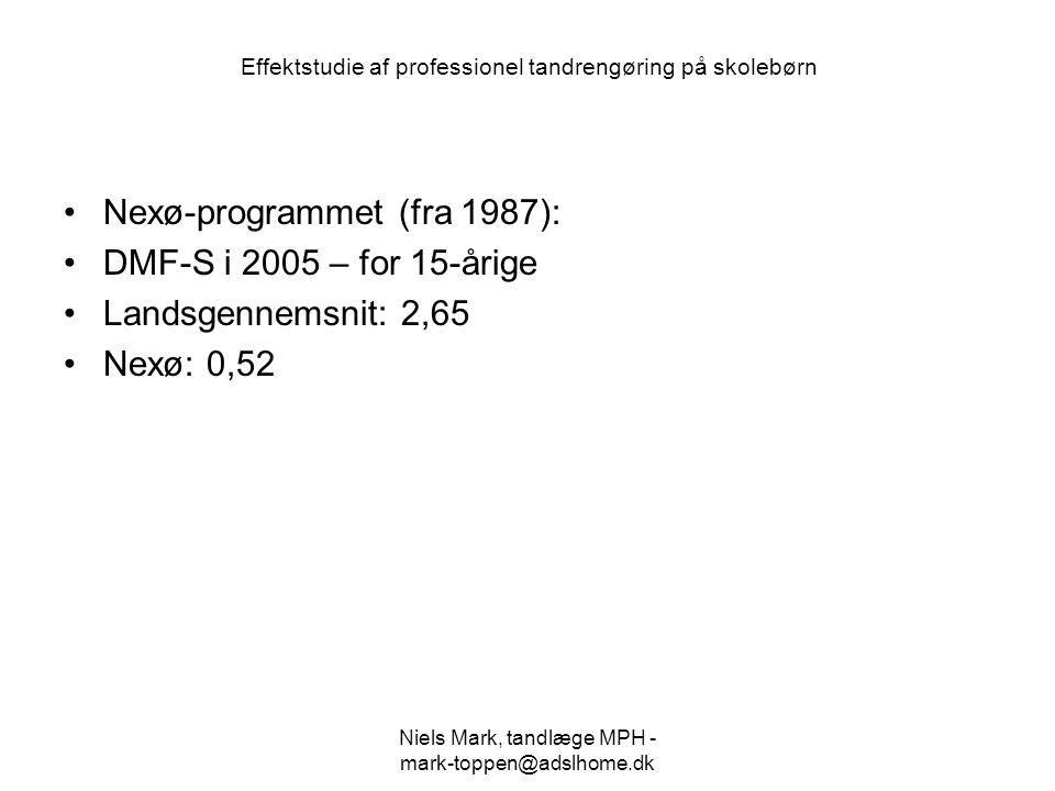 Effektstudie af professionel tandrengøring på skolebørn