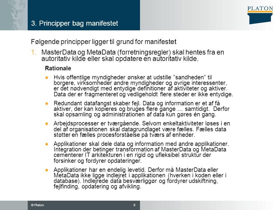 3. Principper bag manifestet
