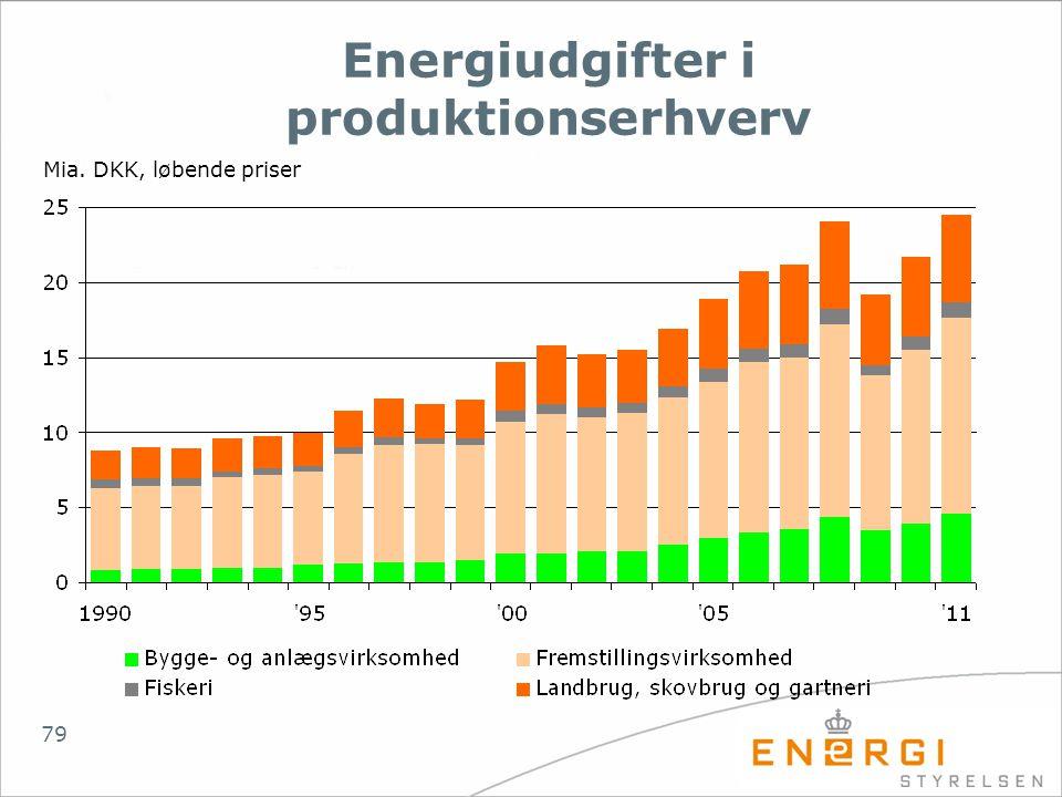 Energiudgifter i produktionserhverv