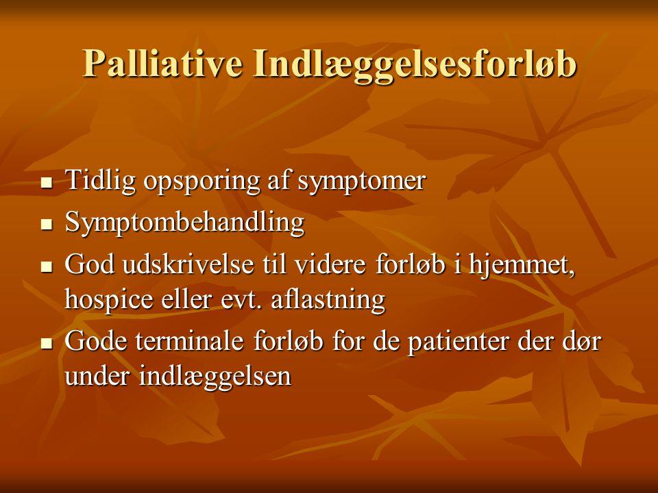 Palliative Indlæggelsesforløb