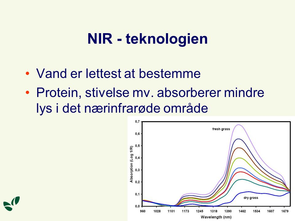 NIR - teknologien Vand er lettest at bestemme