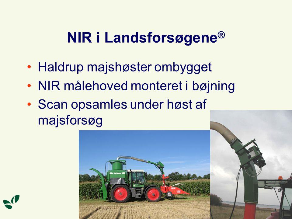 NIR i Landsforsøgene® Haldrup majshøster ombygget