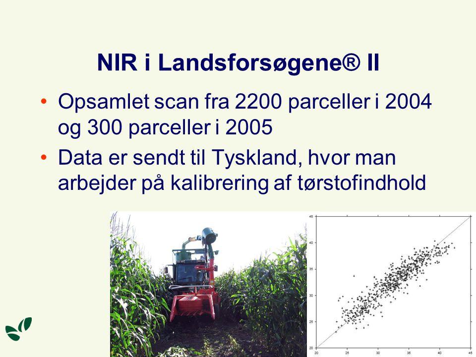 NIR i Landsforsøgene® II