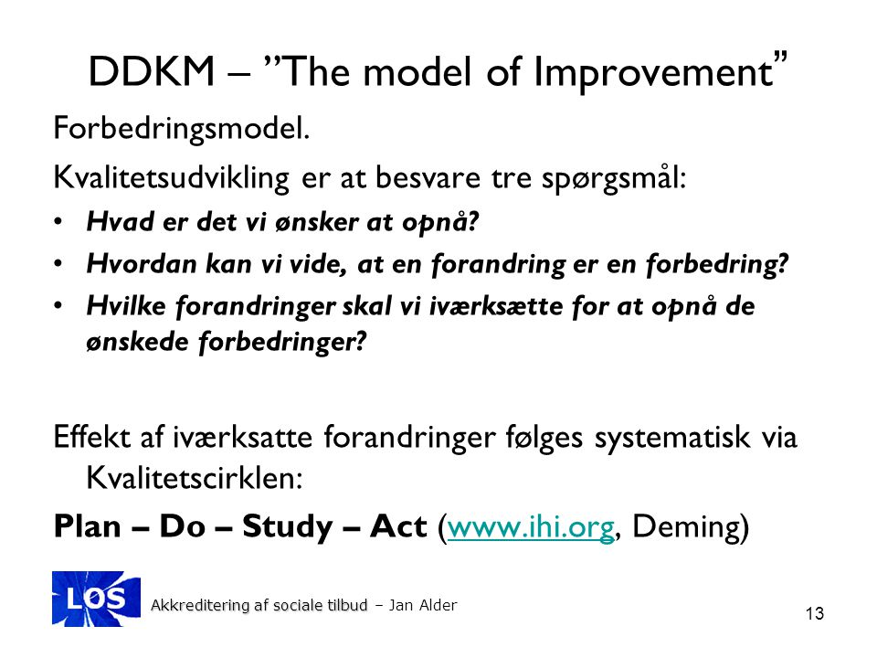 DDKM – The model of Improvement