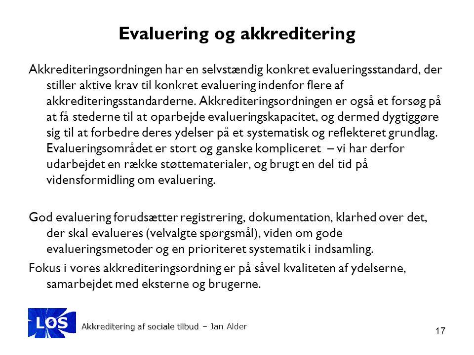 Evaluering og akkreditering