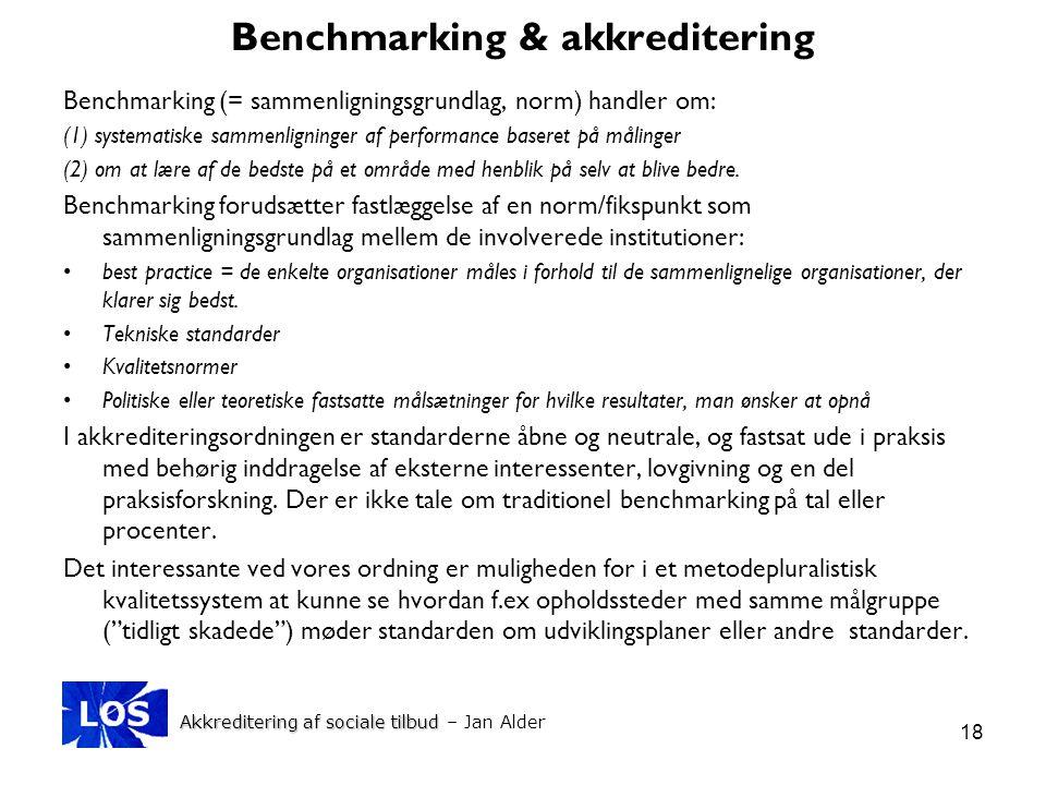 Benchmarking & akkreditering