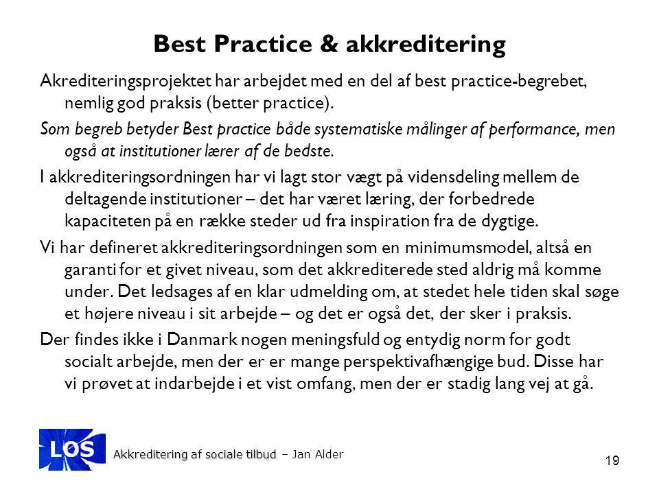 Best Practice & akkreditering