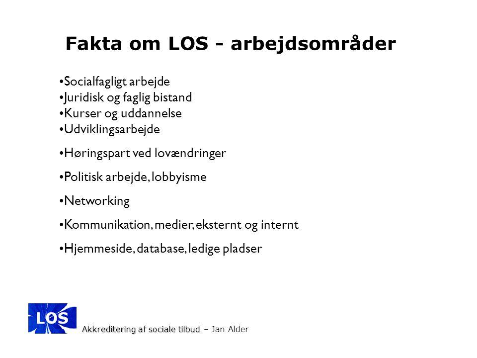Fakta om LOS - arbejdsområder