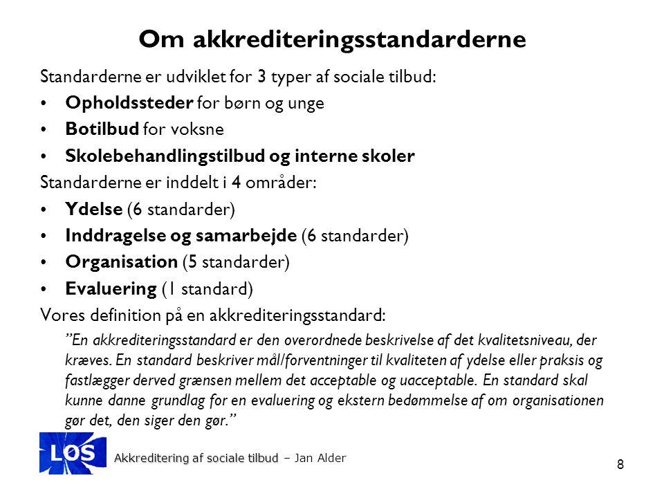 Om akkrediteringsstandarderne