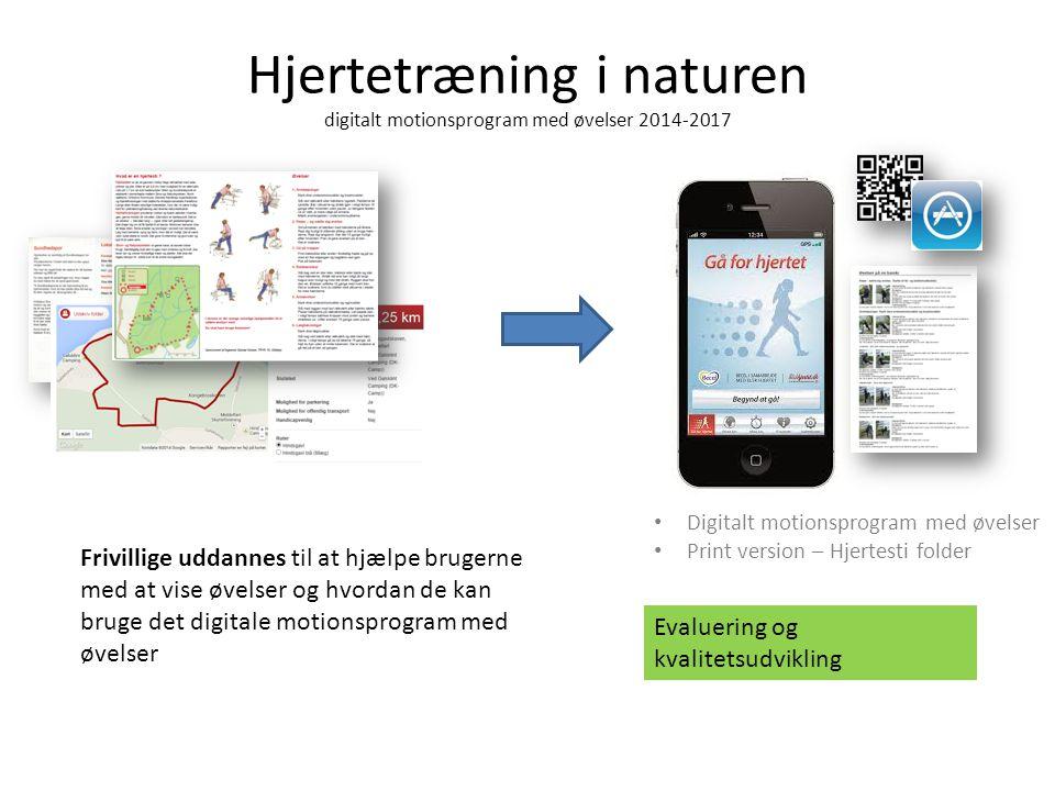 Hjertetræning i naturen digitalt motionsprogram med øvelser 2014-2017