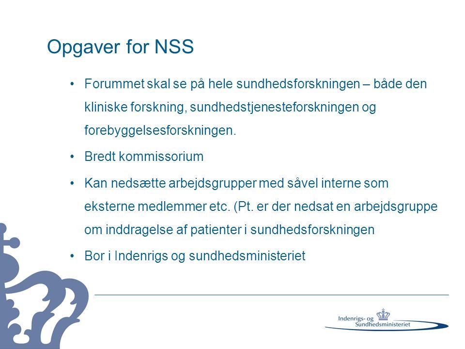 Opgaver for NSS Forummet skal se på hele sundhedsforskningen – både den kliniske forskning, sundhedstjenesteforskningen og forebyggelsesforskningen.