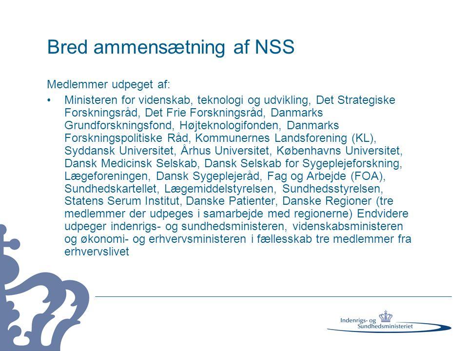 Bred ammensætning af NSS