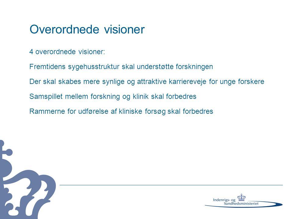 Overordnede visioner 4 overordnede visioner:
