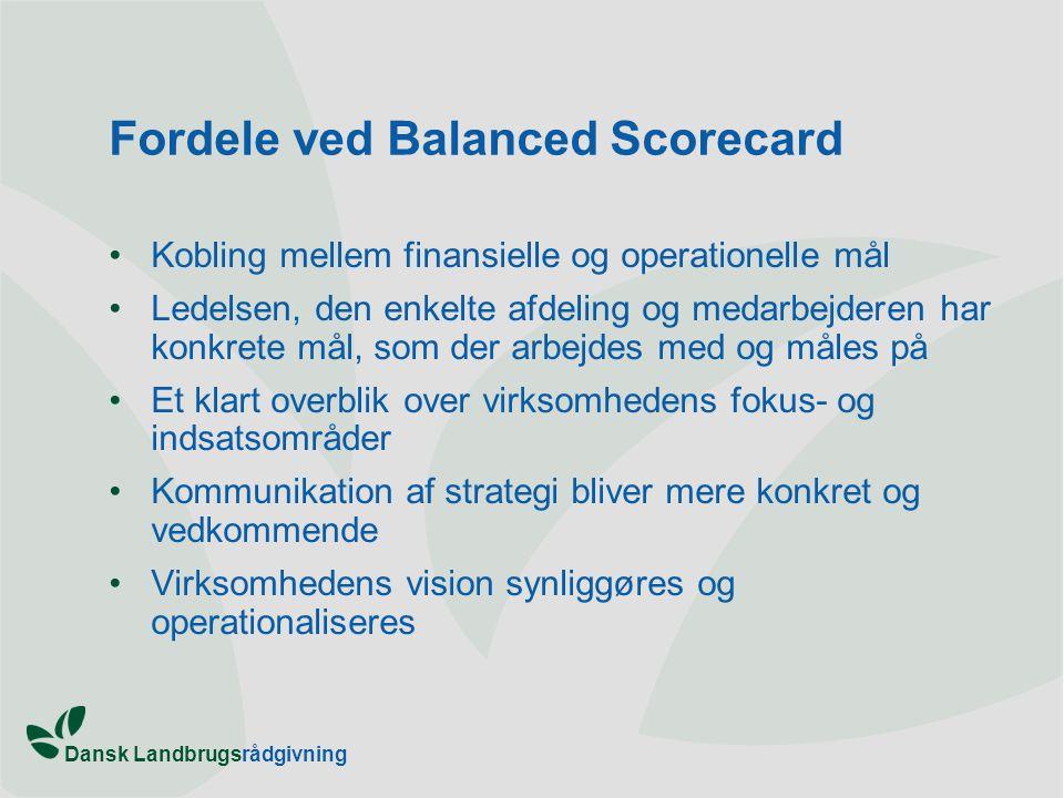 Fordele ved Balanced Scorecard