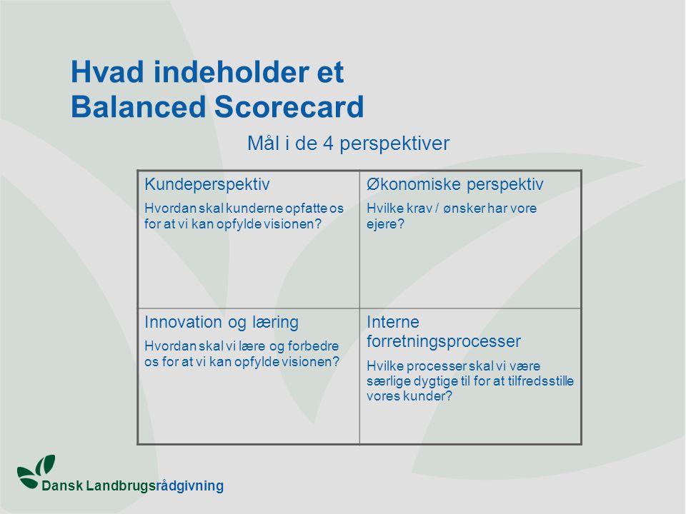 Hvad indeholder et Balanced Scorecard