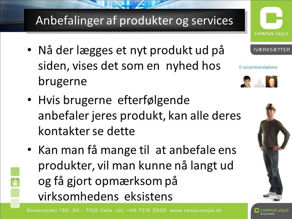 Anbefalinger af produkter og services