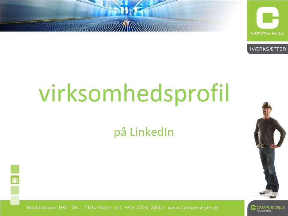 virksomhedsprofil på LinkedIn