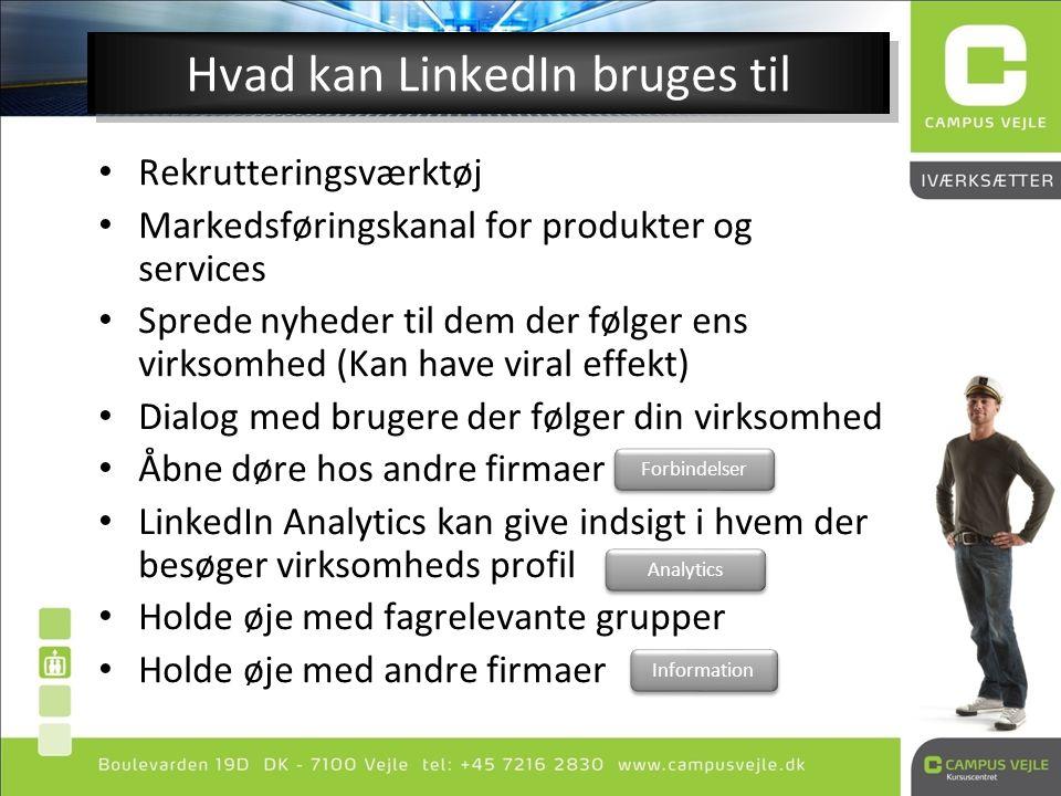 Hvad kan LinkedIn bruges til