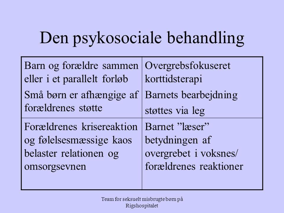 Den psykosociale behandling