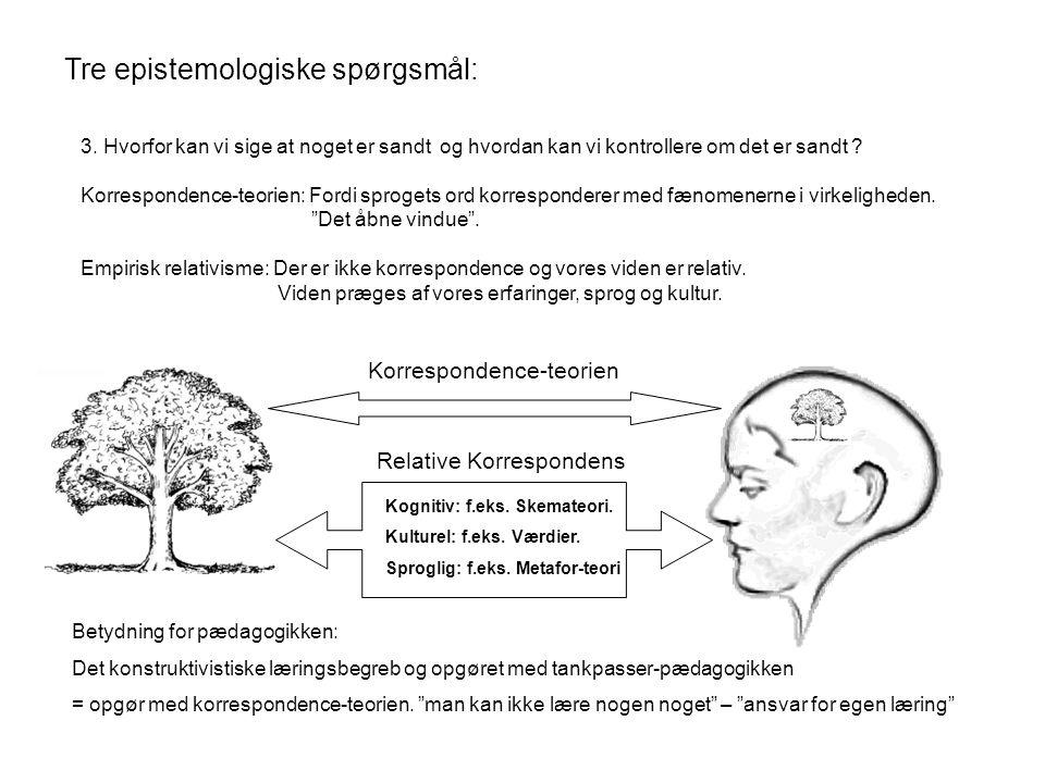 Tre epistemologiske spørgsmål: