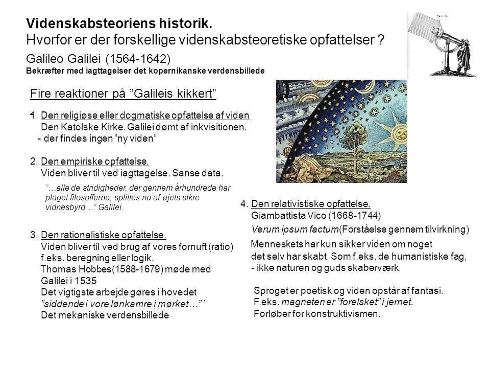 Videnskabsteoriens historik