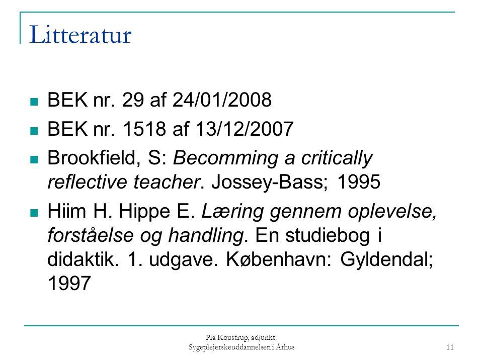 Pia Koustrup, adjunkt. Sygeplejerskeuddannelsen i Århus