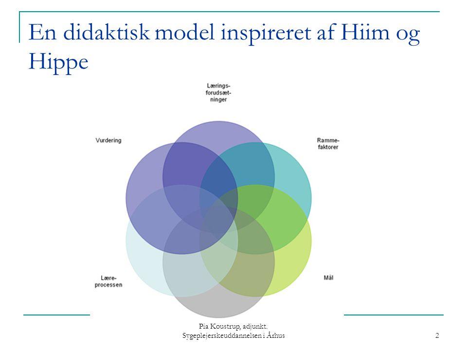 En didaktisk model inspireret af Hiim og Hippe
