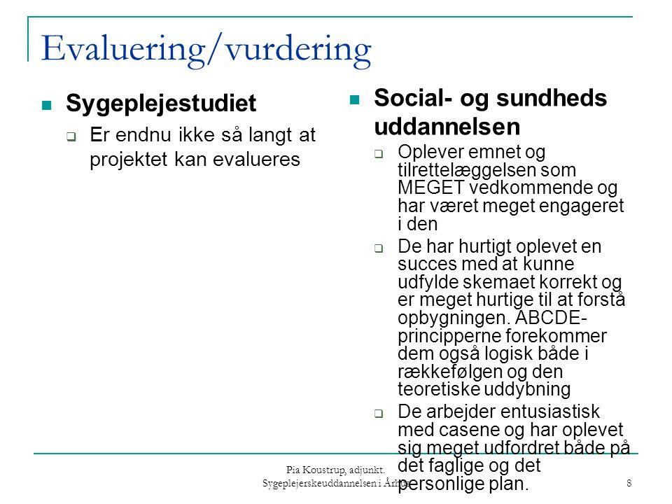 Evaluering/vurdering