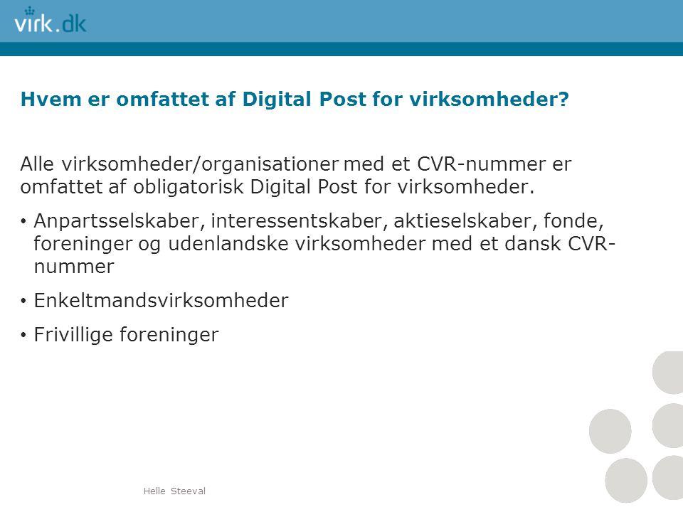 Hvem er omfattet af Digital Post for virksomheder