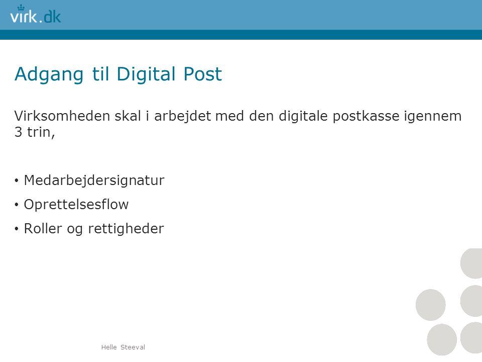 Adgang til Digital Post