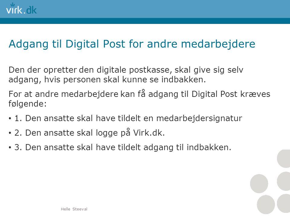 Adgang til Digital Post for andre medarbejdere
