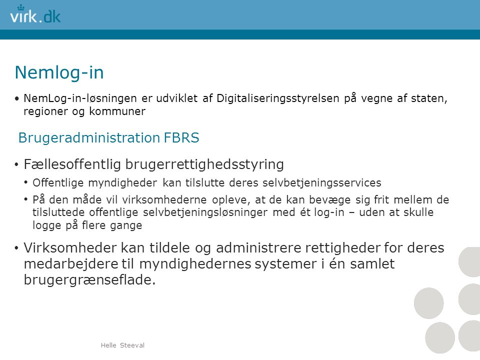 Nemlog-in Brugeradministration FBRS
