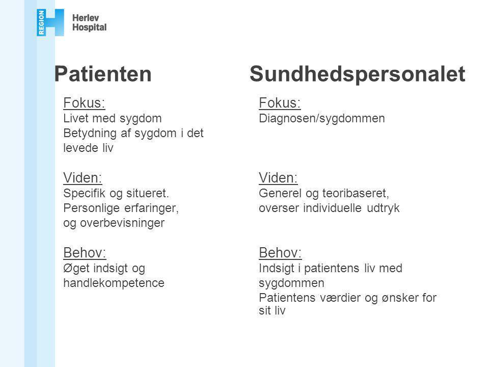 Patienten Sundhedspersonalet