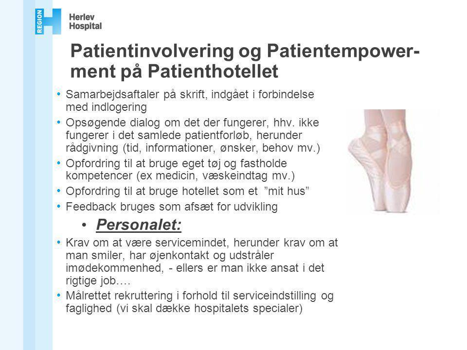Patientinvolvering og Patientempower-ment på Patienthotellet